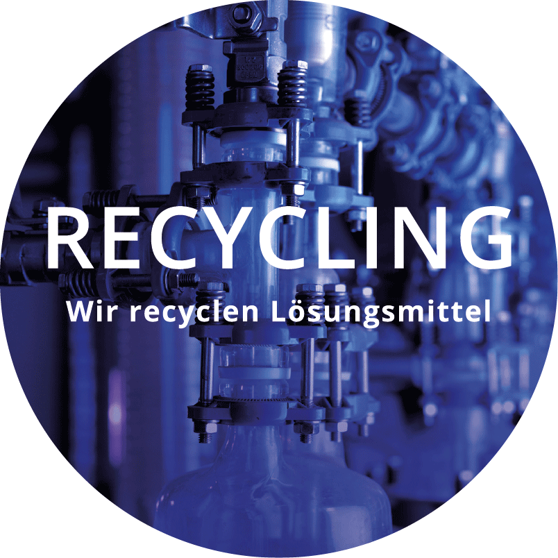 Kreislogo arcus gmbh, Recycling, wir recyclen Lösungsmittel
